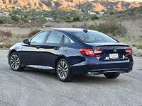 2020 Honda Accord Hybrid Touring Blue Rear Quarter Left, exterior, gallery_worthy