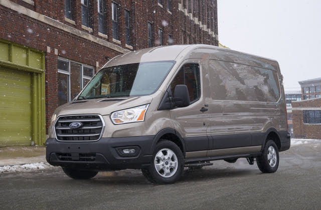 2020 Ford Transit Crew, Front-quarter view, exterior, manufacturer, gallery_worthy