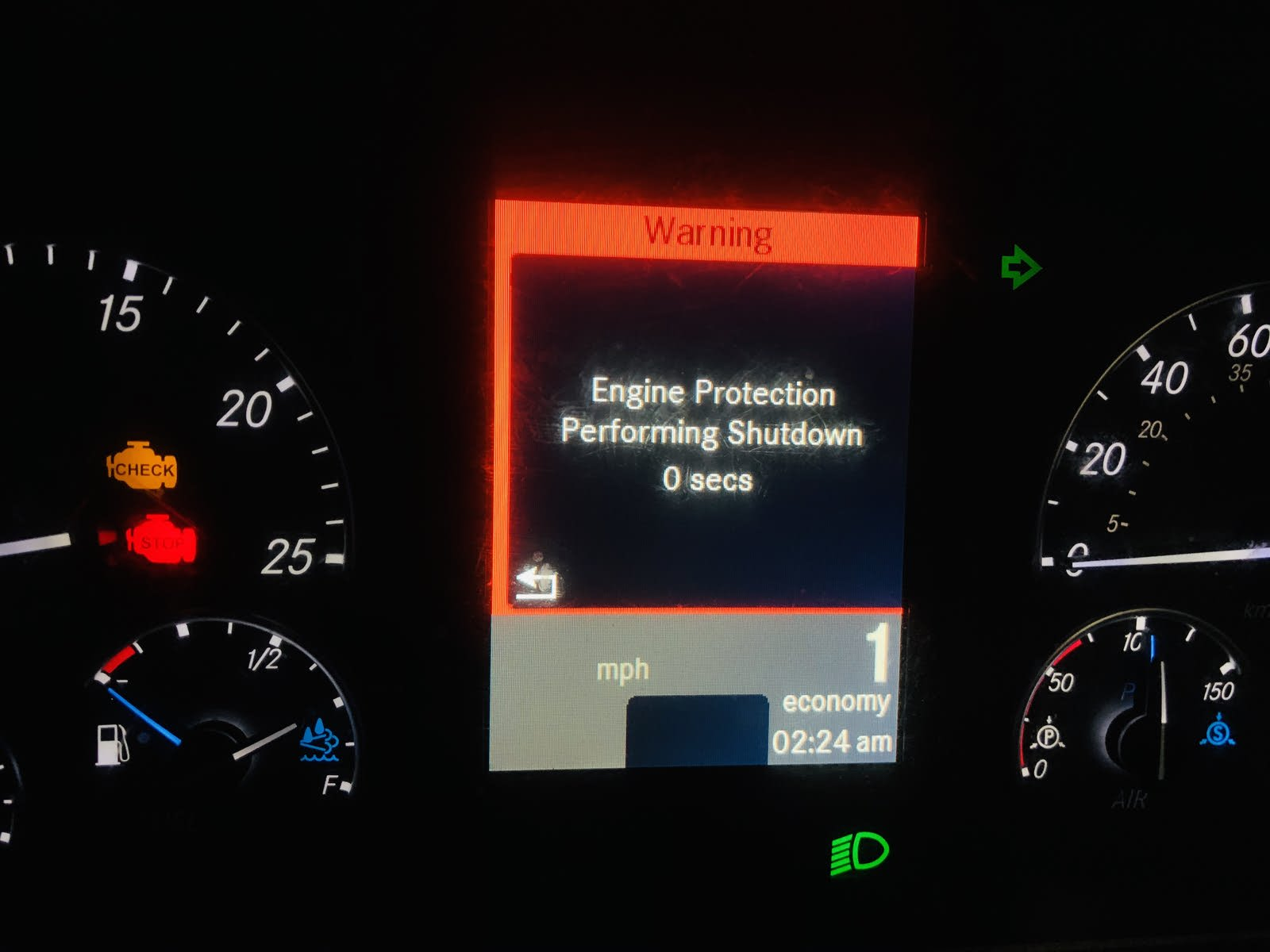 Freightliner Questions Check Engine And Engine Protect Light Comes On Engine Will Run Then Sh Cargurus