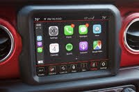Uconnect 8.4 screen of the 2020 Jeep Wrangler Unlimited, showing Apple CarPlay, interior, gallery_worthy