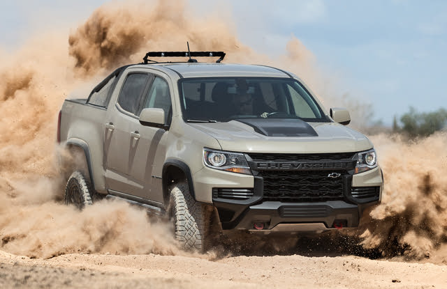 Front-quarter view of the 2021 Colorado ZR2