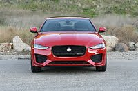 2020 Jaguar XE P300 R-Dynamic S Caldera Red Front View, exterior, gallery_worthy