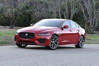 2020 Jaguar XE P300 R-Dynamic S Caldera Red Front Quarter, exterior, gallery_worthy