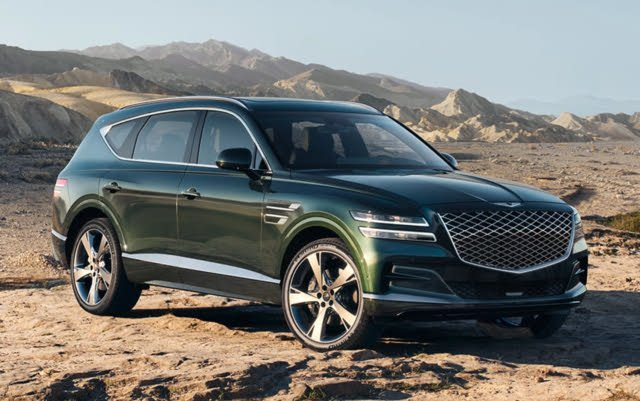 2021 Genesis GV80, Front-quarter view, exterior, manufacturer, gallery_worthy