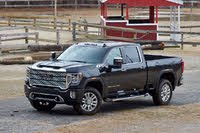 Front 3/4 profile of the 2020 GMC Sierra 2500HD., gallery_worthy