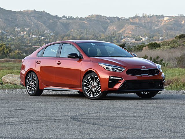 2020 Kia Forte GT Fire Orange Front Quarter View