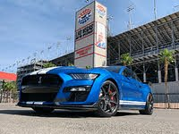 2020 Ford Mustang Shelby GT500 Kona Blue Carbon Fiber Package Front Quarter, gallery_worthy