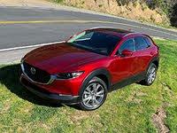 2020 Mazda CX-30 Premium Red Front Quarter Left Aerial, gallery_worthy