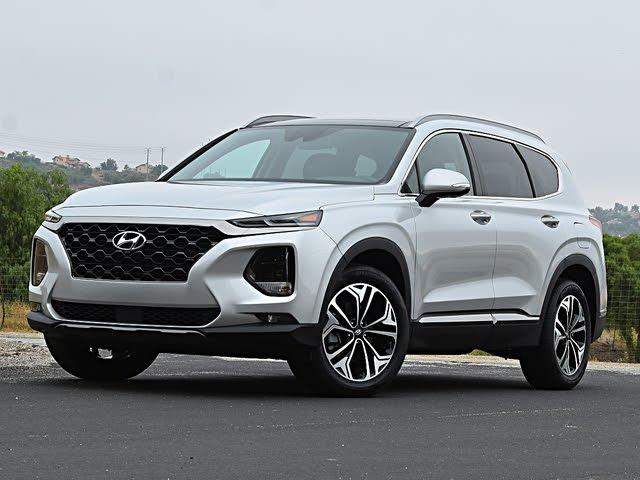 2020 Hyundai Santa Fe Limited 2.0T Silver Front View