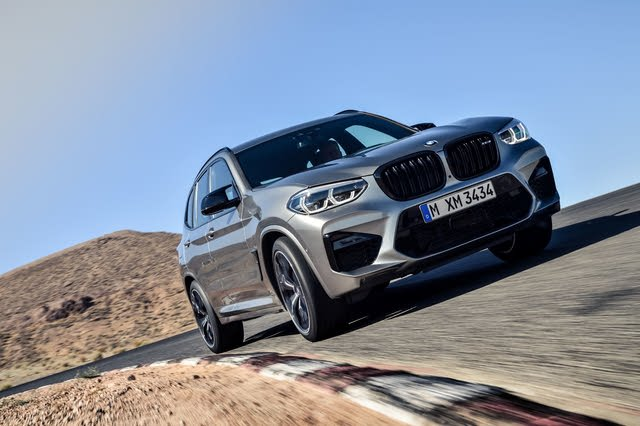 2020 BMW X3 M front-quarter view