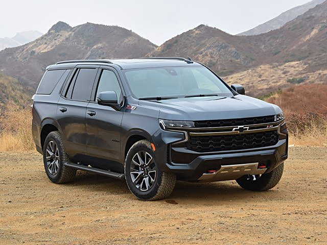 2021 Chevrolet Tahoe Z71 Shadow Gray Front View