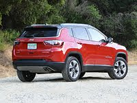 2020 Jeep Compass Limited Red Black Roof Rear View, gallery_worthy