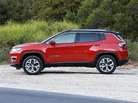 2020 Jeep Compass Limited Red Black Roof Side View, gallery_worthy