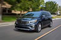 2021 Kia Sedona front-quarter view in motion, exterior, manufacturer, gallery_worthy