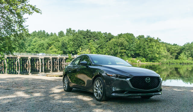 2020 Mazda3 Premium Sedan AWD front-quarter view