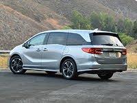 2021 Honda Odyssey Elite Lunar Silver Rear View, gallery_worthy