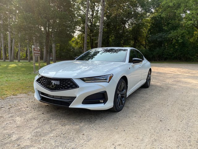 2021 Acura TLX front-quarter view