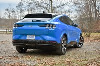 2021 Ford Mustang Mach-E rear three quarter, exterior, gallery_worthy