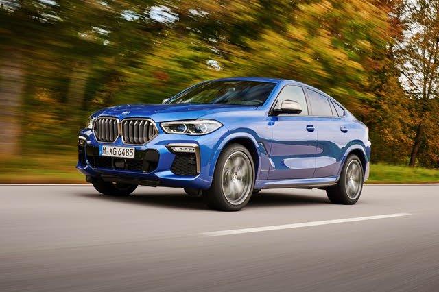 2021 BMW X6 driving