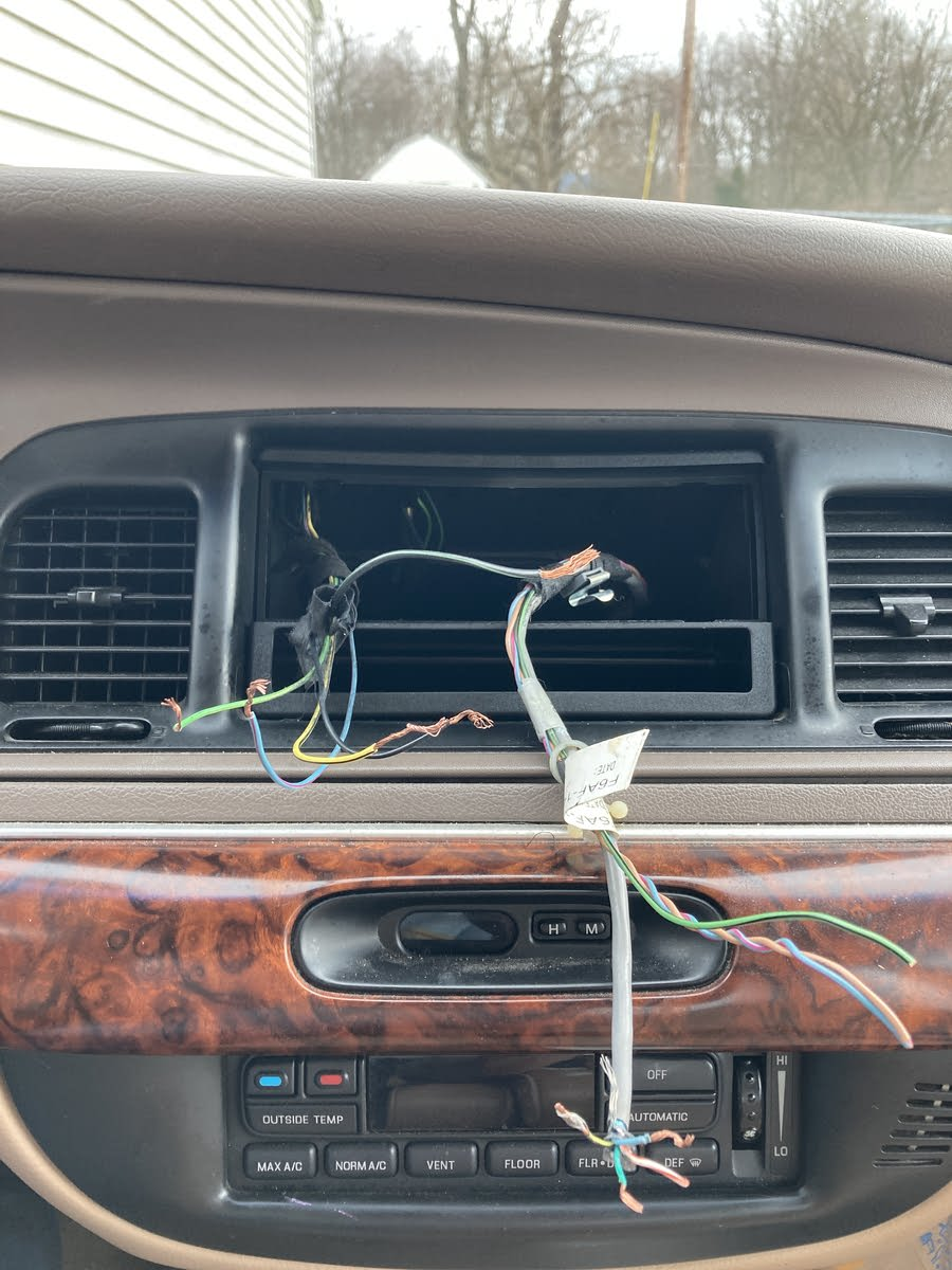 Mercury Grand Marquis Questions - Radio wiring harness ...