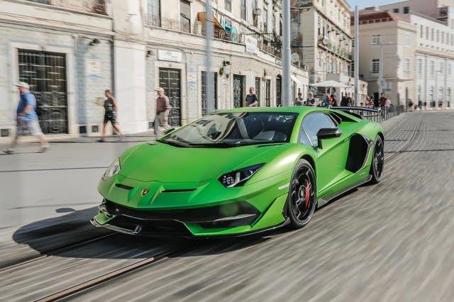 2021 Lamborghini Aventador SVJ coupe driving