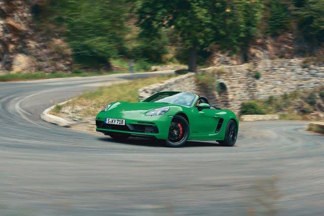 2021 Porsche 718 Boxster driving
