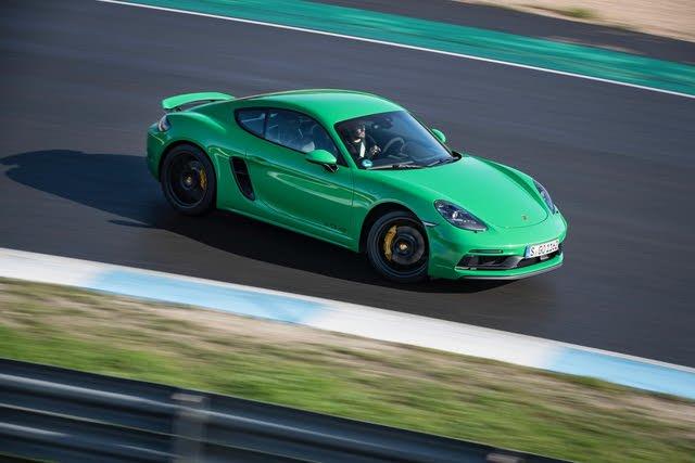 2021 Porsche 718 Cayman driving