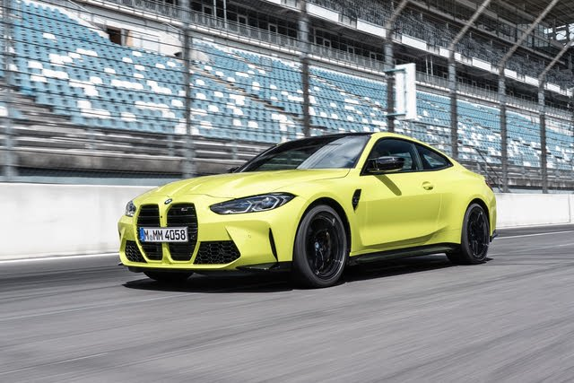 2021 BMW M4 on a racetrack