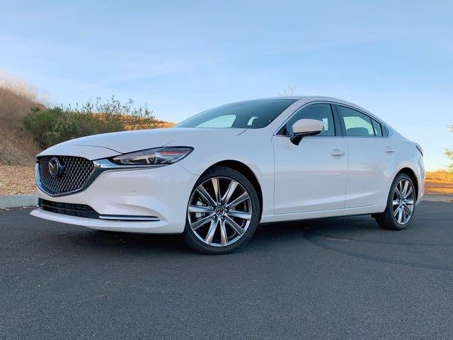 2021 Mazda Mazda6 Signature White Front Quarter View