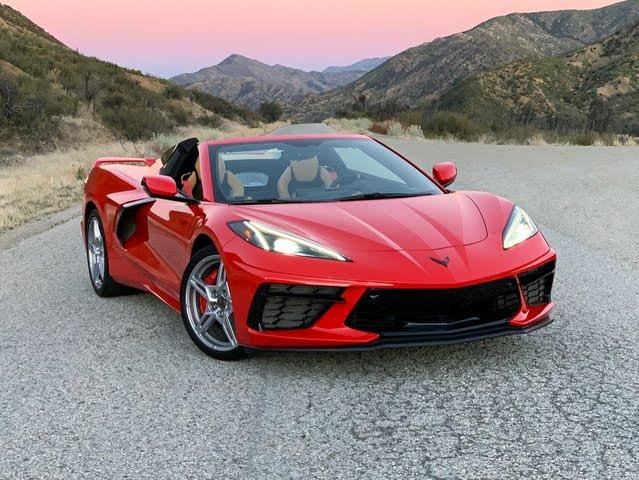 2021 Chevrolet Corvette Convertible 2LT Red Front Quarter View