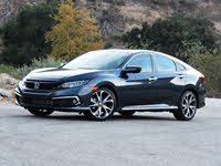 2021 Honda Civic Touring Cosmic Blue Front Quarter View, gallery_worthy