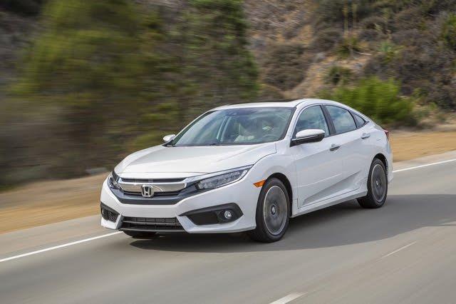 2017 Honda Civic sedan driving