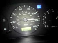 Mazda 323 (BA) 1998, 1.5 Z5, tires 195/50 R15, all stock Full speed on motorway. Runs 190km/h