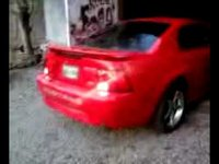 my mustang gt backing out of the garage headed to the cruise in my son did it with his phone
