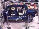 Crazy blue hummer H2 on 30 inch rims at the 2006 Sema show in las vegas