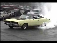 dodge charger doing burn out