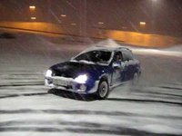 drifting in snow  in iceland