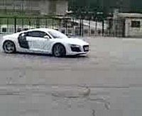 audi r8 doing donuts