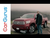 Toyotas Tundra rolls into 2016 with an upgraded Entune system, plus a larger gas tank and integrated brake controller for upper trim levels.