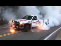 4th of July BIG BURN-OUT 15 Watch the tires catch fire @ 1:27