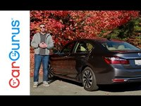 The 2017 Honda Accord Hybrid uses a 2.0-liter 4-cylinder Earth Dreams engine making 143 hp and 129 pound-feet of torque paired to an electric motor and a lithium-ion battery pack. The engine connects ...